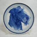 【送料無料】犬の絵皿・エアデール・テリア・#7503 (ドッグプレート)