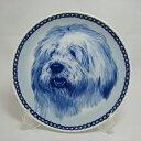 【送料無料】犬の絵皿・オールド・イングリッシュ・シープドッグ・#75628 (ドッグプレート)