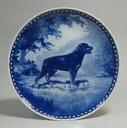 【送料無料】犬の絵皿・ロットワイラー・#7079 (ドッグプレート)