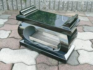墓所用黒御影石経机型香炉・香皿付