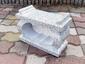 墓所用白御影石経机型香炉