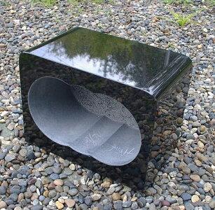 【お墓・香炉】黒御影石角香炉(お墓用)【送料無料】02P27May16