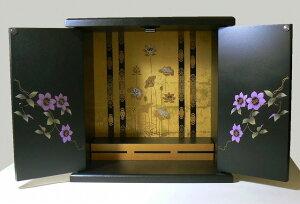 漆器調ミニ仏壇(鉄仙)写真は小サイズ