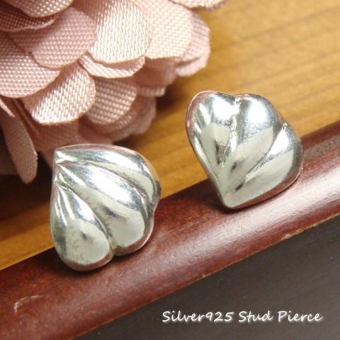30%OFF!!シルバーピアス クリームのような貝殻のようなハートのような不思議な形だけれど可愛らしいシルバースタッドピアス  シルバー925 silver925 シルバーアクセサリー レディースピアス