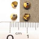 ガラスカットビーズ ソロバン直径4.4mm ゴールド 3gのグラム販売(約40個入り) ゴールド系 金系 ガラスビーズ そろばん型 グラスビーズ アクセサリーパーツ 手作り ハンドメイド 材料 2