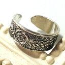 フリーサイズリング 大人な薔薇模様足指リング40 シルバー925 silver925 シルバーアクセサリー 指輪 足...