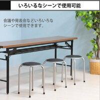 不二貿易パイプ丸イスFB-01BK(1010BK)パイプ丸椅子パイプ椅子積み重ねスタッキング式イスいすスツールチェアチェアー