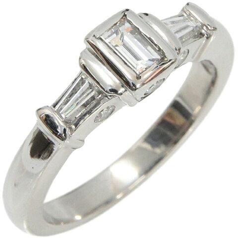 Pt900 リング ダイヤモンド デザインリング 合計D0.622ct 9.5号 中古 プラチナ 指輪 ジュエリー アクセサリー   ゆびわ リング ダイヤ ダイヤリング ダイヤモンドリング 18金 レディース 女性 妻 誕生日 プレゼント ギフト 母の日 結婚記念日