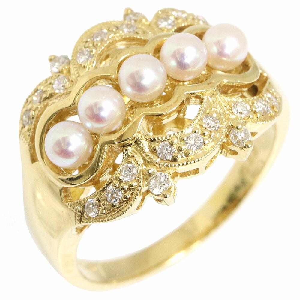 レディースジュエリー・アクセサリー, 指輪・リング  D0.22ct K18YG 14 Baby pearl Diamond