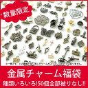 数量限定!!使い方自由自在!!超超お得☆種類色々☆金属チャーム50種類50個福袋