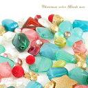 【ゆうパケット可】クリスマスカラービーズミックス約100g /アクリルビーズ/フロッキービーズ/ビーズアンドパーツ/樹脂/プラスチック/アクセサリー/パーツ/材料/beads552/18xmas