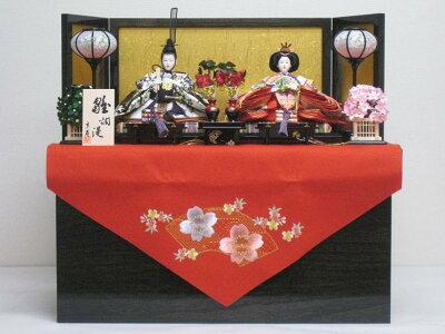 ◆激安新品◆収納親王飾りYN2SH (F)赤毛せん◆ひな人形◆雛人形◆桃の節句