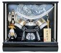 送料無料五月人形10号シルバー伊達兜ケース飾りYN31312GKC伊達正宗五月人形ケース(木製弓太刀付)兜飾り銀伊達kabutoyoroi