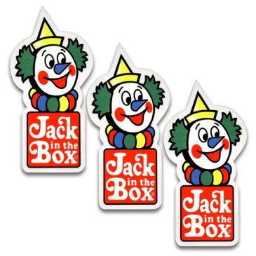 [メール便送料無料] ステッカー 3枚 セット / Jack in the Box ジャックインザボックス アメリカン雑貨