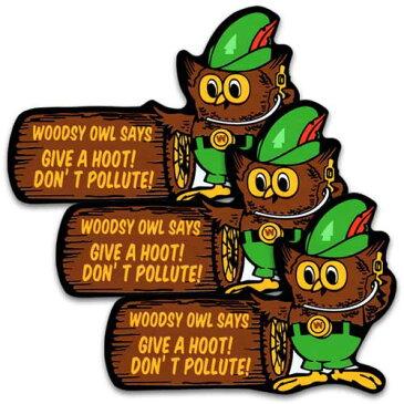 [メール便送料無料] ステッカー 3枚 セット / WOODSY OWL ウッディーオウル アメリカン雑貨