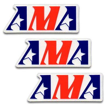 [メール便送料無料] ステッカー 3枚 セット / AMA American Motorcycle Association エーエムエー アメリカン雑貨
