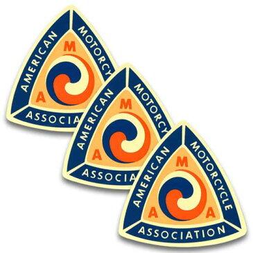 [メール便送料無料] ステッカー 3枚 セット / AMA American Motorcycle Association トライアングル アメリカン雑貨