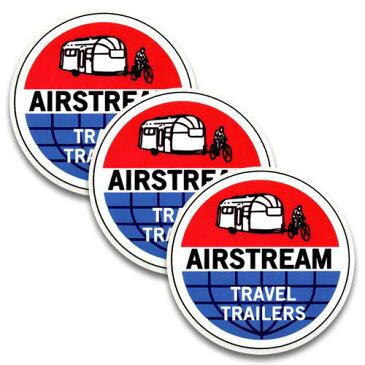 [メール便送料無料] ステッカー 3枚 セット / AIR STREAM エアストリーム TRAVEL TRAILERS アメリカン雑貨