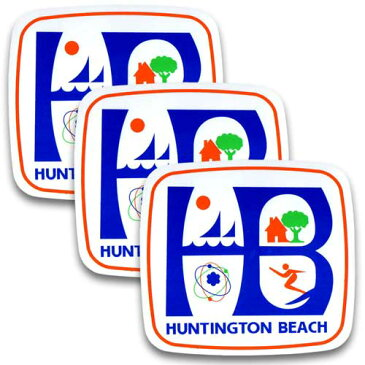 [メール便送料無料] ステッカー 3枚 セット / HUNTINGTON BEACH ハンティントン ビーチ アメリカン雑貨