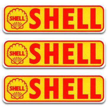 [メール便送料無料] ステッカー 3枚 セット / SHELL バナー シェル アメリカン雑貨