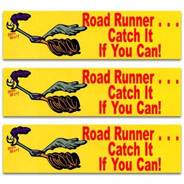 [メール便送料無料] ステッカー 3枚 セット / ROAD RUNNER ロードランナー ミニバンパー アメリカン雑貨