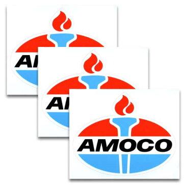 [メール便送料無料] ステッカー 3枚 セット / AMOCO アモコ アメリカン雑貨