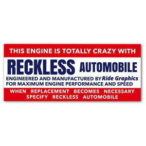 Sticker Freaks アメリカン ステッカー RECKLESS AUTOMOBILE 19