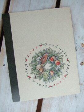 限定LANGクリスマスカード「リース」【カントリー雑貨】・