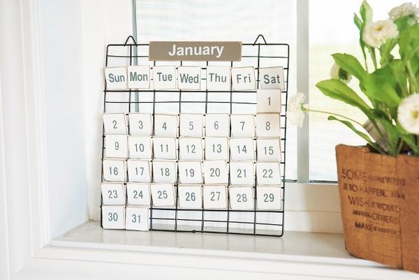 あす楽】PRIMITIVE CALENDAR S プリミティブ カレンダー S アメリカン ナチュラル フレンチ カントリー 北欧 万年カレンダー インテリア ナチュラル 雑貨 レトロ調 ワイヤー プリミティブ 壁掛け 安い