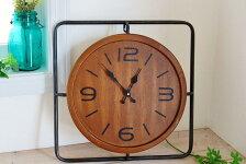 COVENTGARDENコベントガーデンインダストリアルクロック時計レトロ調アンティーク調壁掛けウッド木製木目