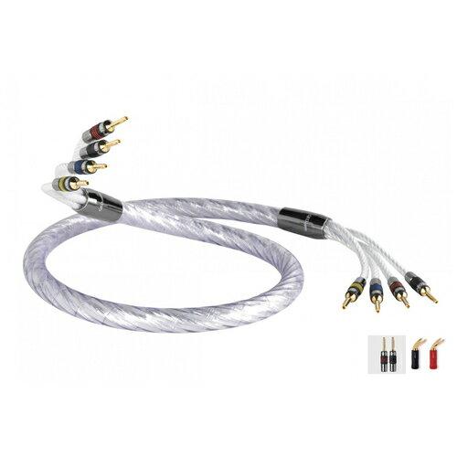 QED - Signature-Genesis-Silver-Spiral/Bi-Wire/完成品(バナナ-Y10mm)(3.0m)(1本)【店頭受取対応商品】