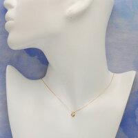 K18ゴールドダイヤモンド0.1ctハートネックレスペンダント