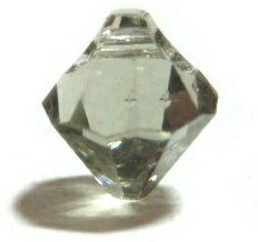 [DA112]スワロフスキービーズ#6328(#6301) ソロバン/横穴 6mm ブラックダイヤ 6ケ