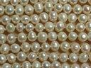 [HB001]【淡水パールセール】淡水パール天然色ロングネックレス約160cm約6〜7mmホワイト