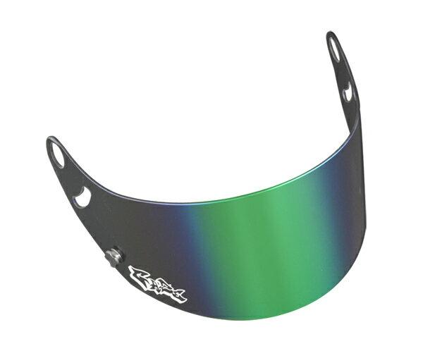GAZEゲイズミラーバイザー(グリーン)アライヘルメットGP-6SK-6シリーズカート4輪走行会 店頭受取対応商品