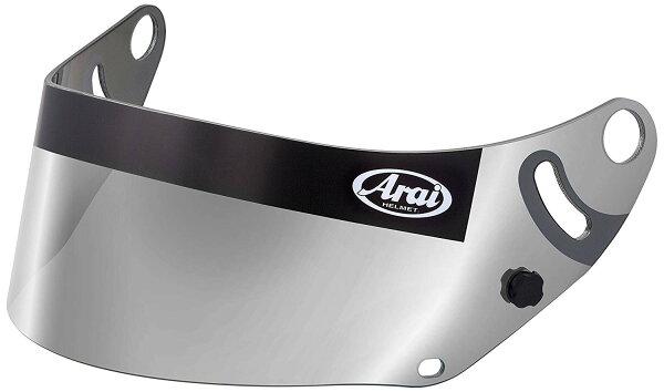 AraiアライヘルメットミラーシールドGP-68859(スモークシルバー)カート4輪走行会 店頭受取対応商品