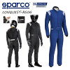 送料無料SPARCOスパルコレーシングスーツCONQUEST-R506コンクエスト(ブルー/ホワイト)FIA公認【店頭受取対応商品】