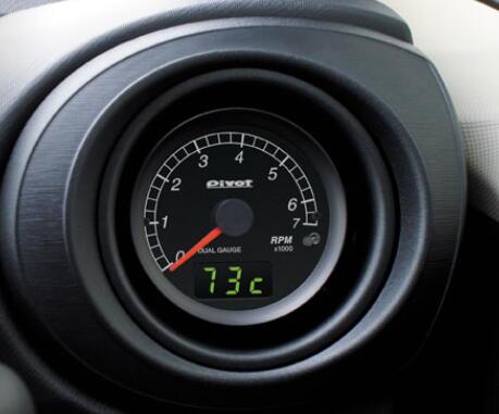 Pivot ピボット DUALGAUGE DXT-H ハイブリッド車用タコメーター デュアルゲージ φ60 ホワイトLED...