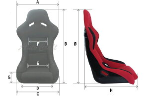 RECAROSP-Gタイプ≪オリジナルフルバケットシート≫カラー:レッドorブラック(サイドステー&スライドレール付属)
