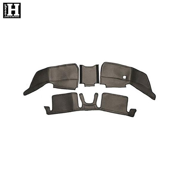 [concept H] フロント/リアデッキカバーセット ブラック エブリイ DA17V DA17W [PZターボ / JPターボ / ジョインターボ / ジョイン]