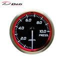 Defi デフィ Racer Gauge N2 Φ52 圧力計 0〜1000kPa レッドモ...