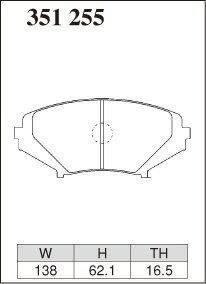 [DIXCEL] ディクセル ブレーキパッド エクストラスピード フロント用 【RX-8 SE3P 03/04〜】 送料無料(沖縄・離島・同梱時は送料別途)