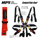 [HPI] ハンス対応レーシングハーネス 6点式 オレンジ