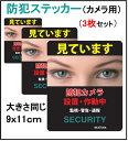 ★送料無料★新商品【3枚セット】 防犯ステッカー (カメラ用...
