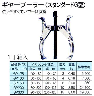 HIT(ヒット) ギヤープーラー GP75 (スタンダードG型)【工具・ギヤープーラー】