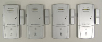 Window sensor [4 pieces] ( ultra thin window alarm, window sensors ) ( 3 piece and 2 piece set, there is one thing )