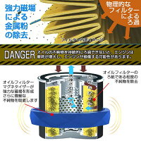 強力磁場による金属粉の除去