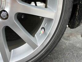 国旗柄エアバルブキャップ(イタリア)簡単装着フェラーリフィアット