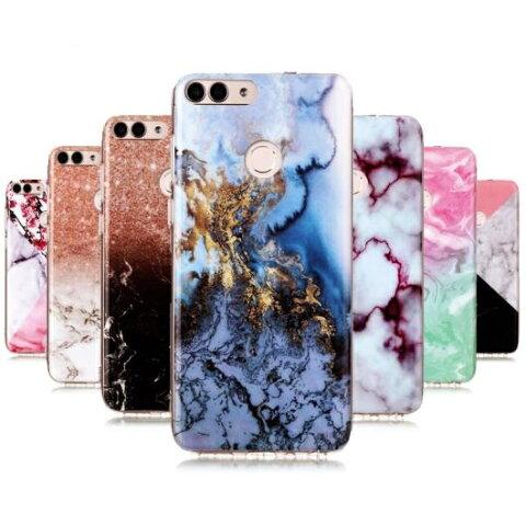 AL スマホケース Huawei ソフト TPU ケース 大理石 石シリコン カバー 電話 Group1 選べる12カラー HUAWEI nova lite 2 AL-AA-5578
