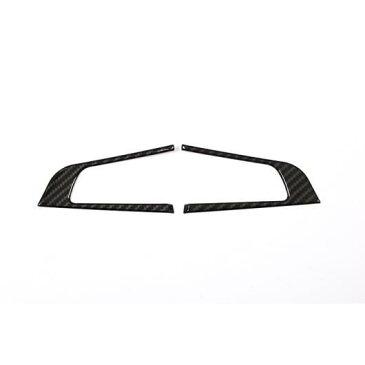 AL 2個 カーボンファイバー ABS クロームステアリングホイール 装飾 フレーム トリム アルファロメオ ジュリア STELVIO 2016-2018 Carbon fiber AL-DD-4526
